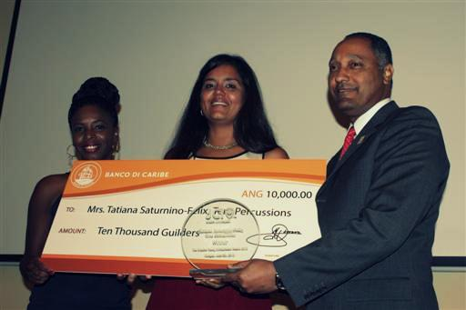 Curaçao's 5th Creative Young Entrepreneur is Mrs. Tatiana Saturnino-Felix of Tera Percussions